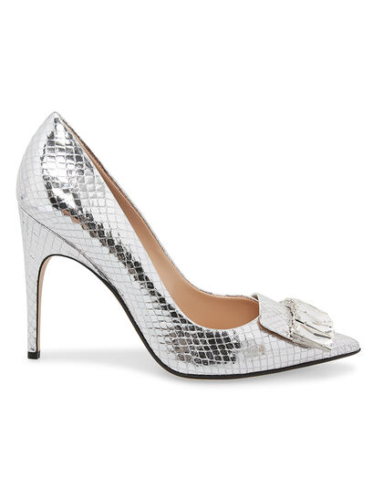 Shoe Metallic Lame 105 Mm