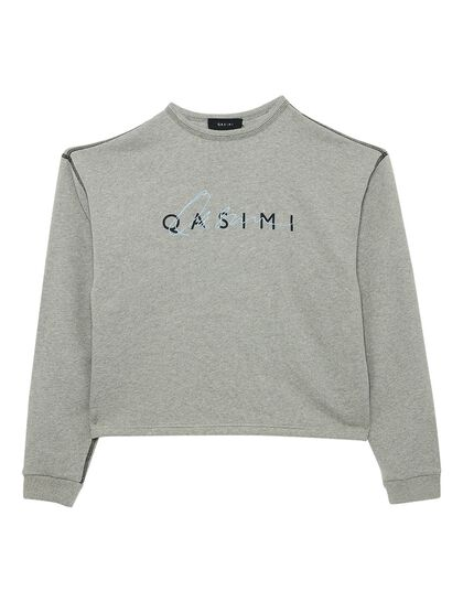 Hua Cropped Sweater With Logo