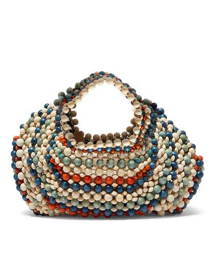 Lagrima Wood Bead Handbag
