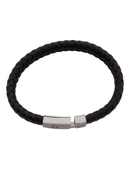 Andrea Bracelet - Woven Leather Black