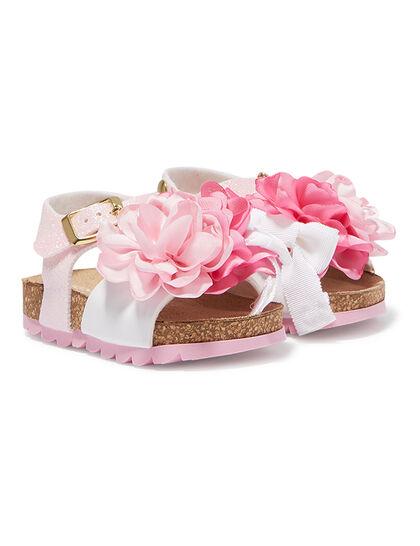 Floral Glitter Sandals