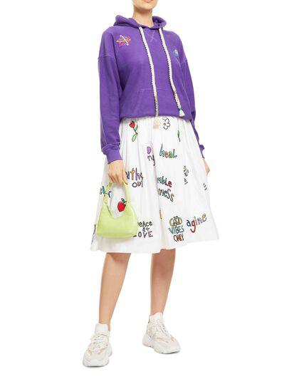 Wellness Emb & Print Gathered Skirt