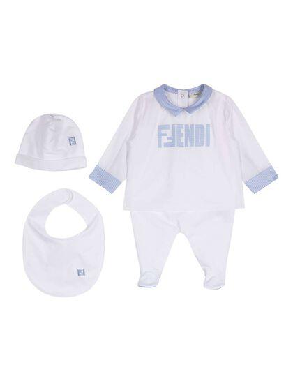 Set Overall Fendi Blue Logo