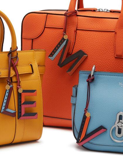 Bi-Colour Leather Keyring