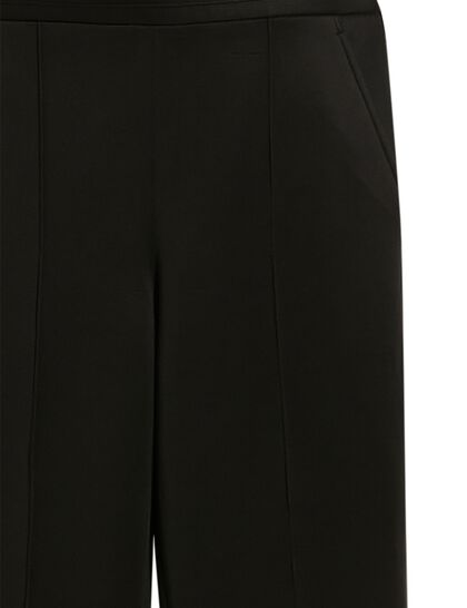 Flared Pants Slit On The Bottom Front. Ankle Length High Waist