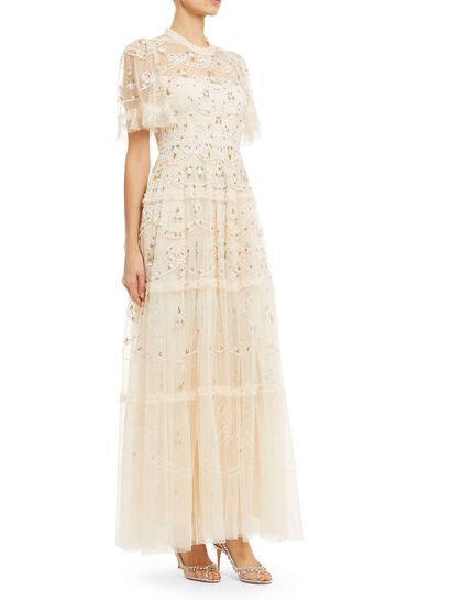 Ditsy Ribbon Gown