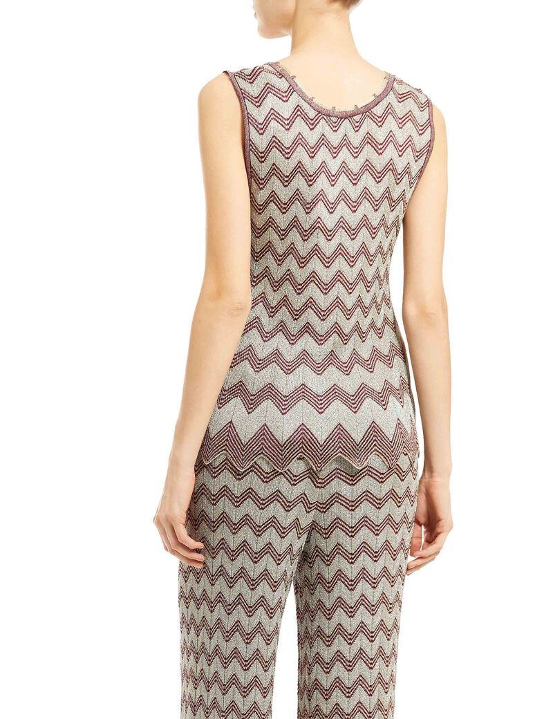 Knitted Zig-Zag Top