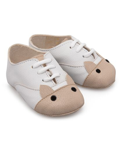 Sustainable Leather Baby Fox Shoes