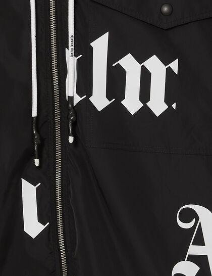 Broken Logo Windbreaker Black White