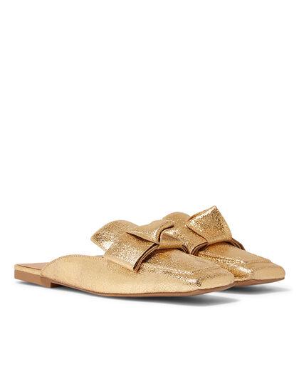 Crinkled Leather Sandals