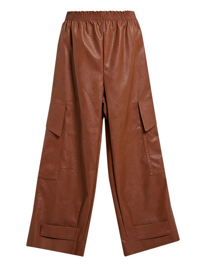 Sylvia Faux-Leather Trousers