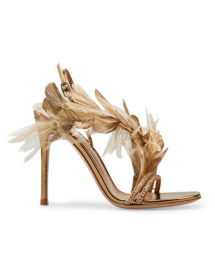 Feather Stiletto Heels