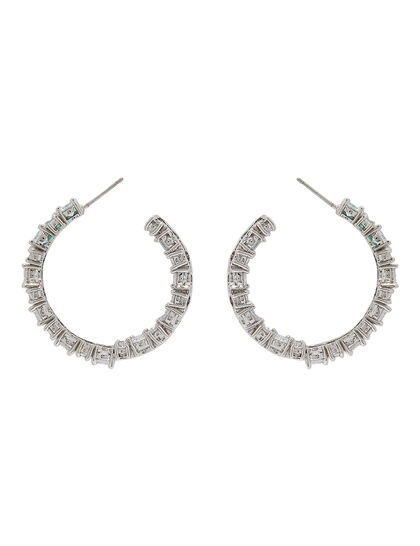 Cluster Hoop Earrings