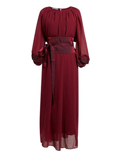 Gathered Neck Midi-Dress