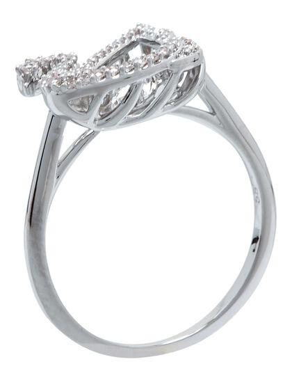 Sjc Dancing Swan-Ring Czwh/Rhs 52 Mm