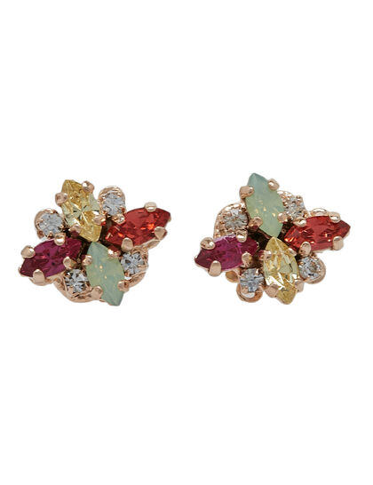 Multi-Color Crystal Earrings