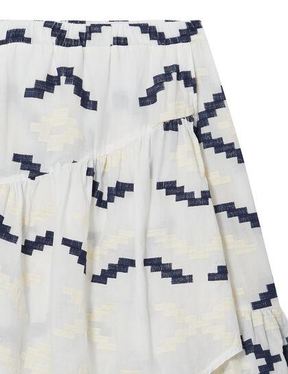 Embroidered Asymmetric Skirt