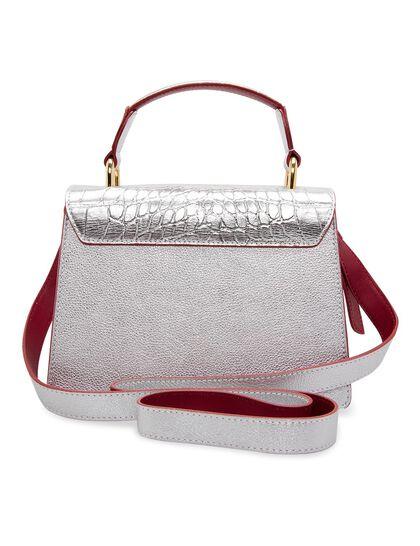 Jasmine Chic Crocodile-Effect Calf Leather Bag