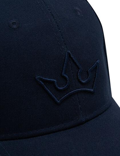 Nova Baseball Cap - Cotton Canvas Navy Blue - 3D Embroidered Logo - Leather Strap