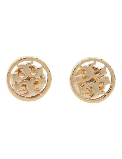 Logo Circle-Stud Earring