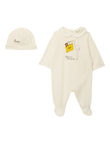 Overall and Baby Hat Set