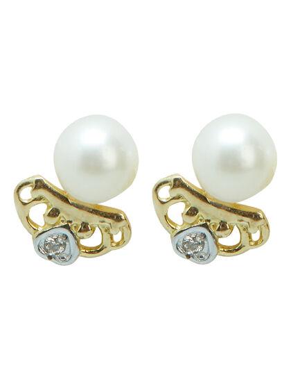 Earring Diamond - Pair Yellow Gold+Rhodium &Bril 0.67