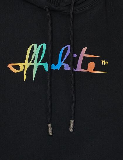 Rainbow Logo Cropped Hoodie