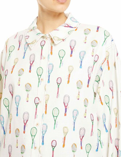 Racket Print Overshirt