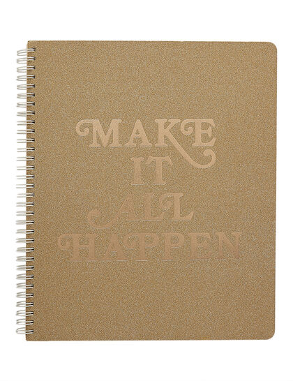 Bdo Rough Draft Large Notebook, Make It All Happen
