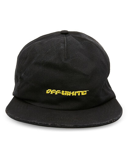 Disrupted Font 5 Panel Cap Black Yellow