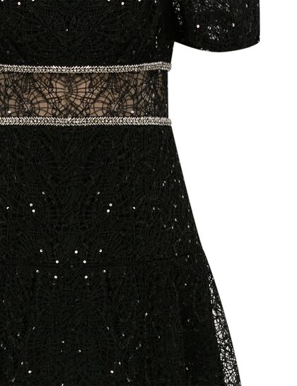 Sequin Circle Lace Midi Dress