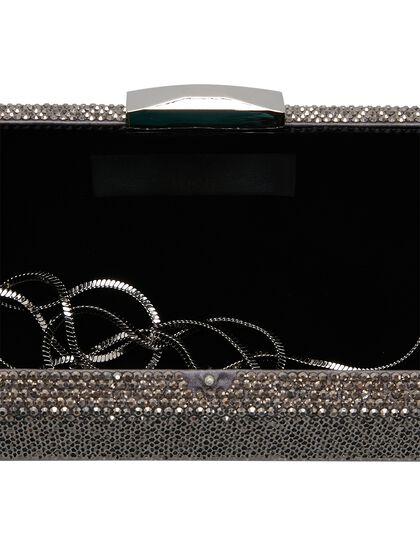Helena Crystals & Metal Clasp Clutch
