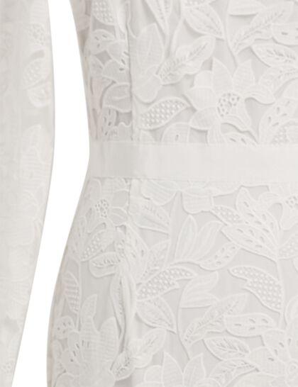 Leaf Guipure Maxi Dress