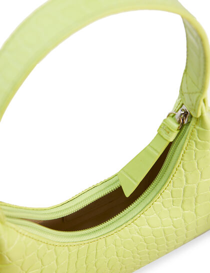 Baby Amber Embossed Leather Bag