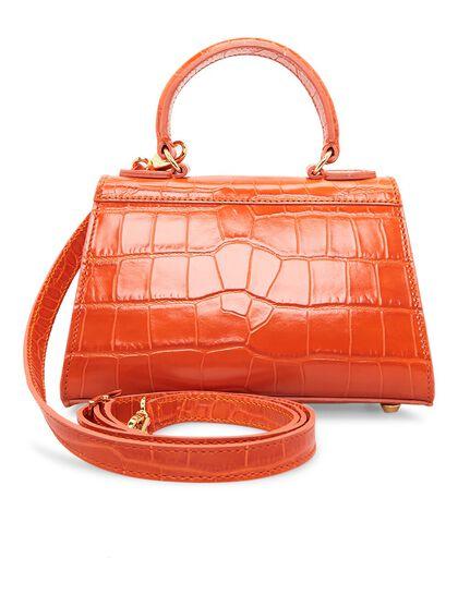 Fonteyn Mignon Croc, Top Handle Handbag With Shoulder Strap And Logo Lock