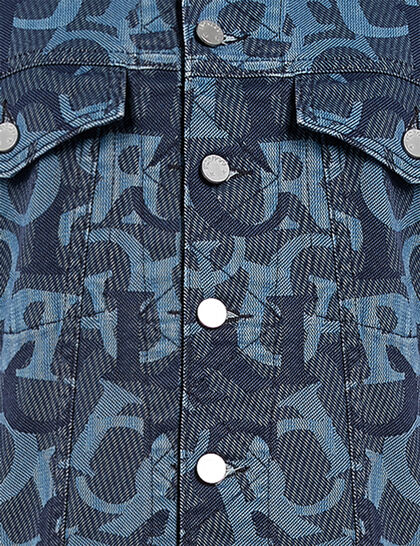 Womens All Over Jacquard Nico Jacket In Blue