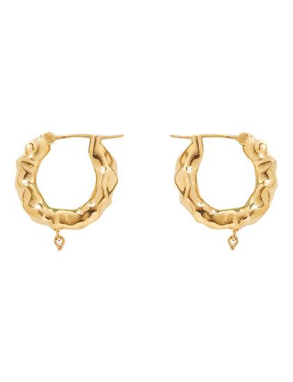 Gold Hoop Pearl Earrings
