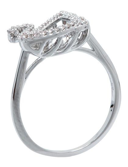 Sjc Dancing Swan-Ring Czwh/Rhs 60 Mm