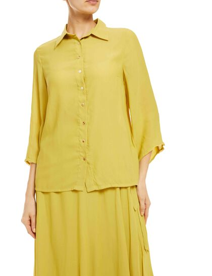 Button-Down Blouse & Wrap Skirt Made Of Soft Georgette Fabric