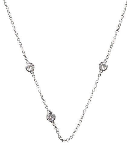 Embellished Silver Necklace