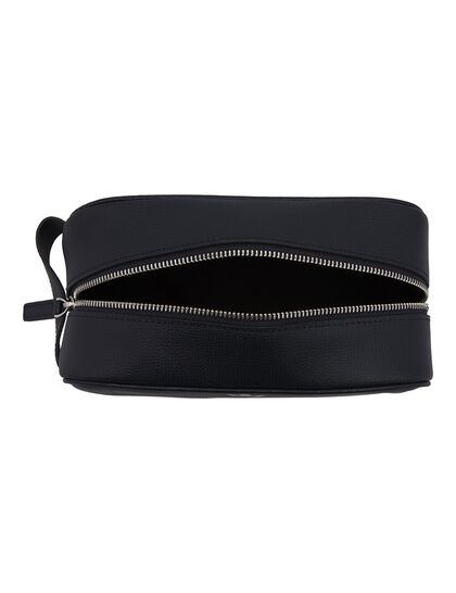Award Wash Bag - Italian Leather Navy Blue