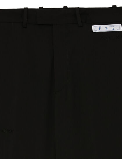 Straight-leg Tailored Pants - Black