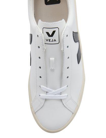 Esplar Logo Leather Extra-White Black