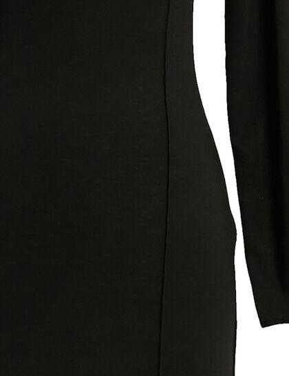 Off-Shoulder Dress, Longsleeve, Two High Slits In Front W/ Train