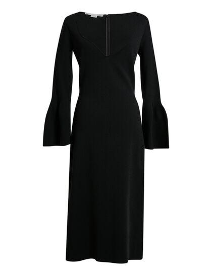 Compact Knit Dress - Black