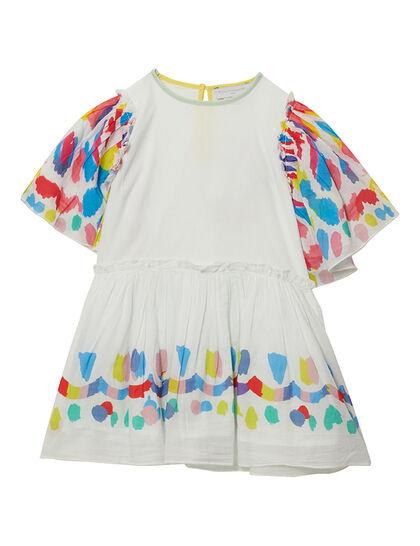 Dress W/Multicol Sleeves