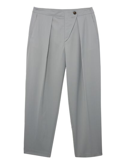 Woolen Tailoring Cropped Pant