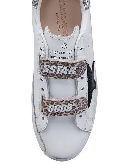 Old School Leather Upper Suede Star Glitter Heel