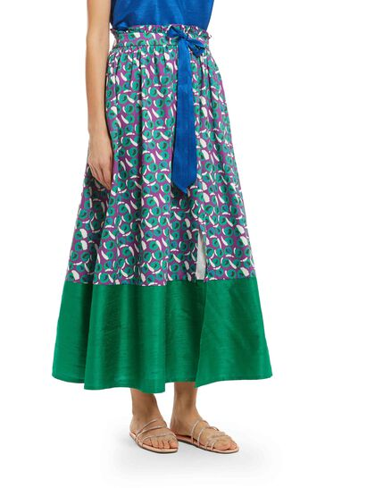Organic Cotton And Silk Skirt