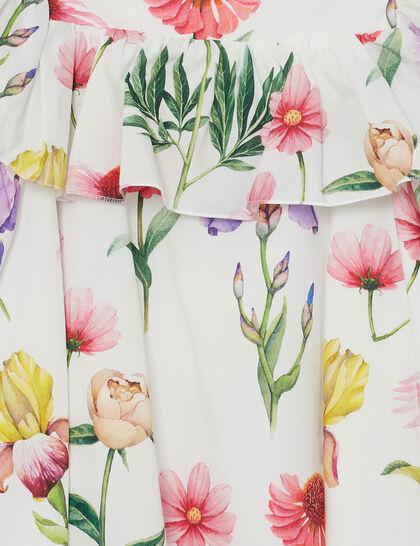 Floral Poplin Dress